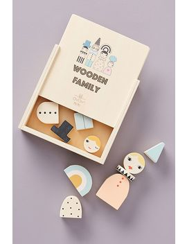 Wooden Family Blocks Toy by Anthropologie
