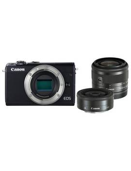 Canon Eos M100 Mirrorless Camera With 15 45mm & 22mm Lenses918/1236 by Argos