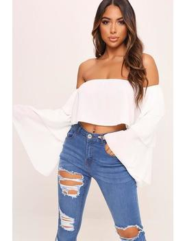 White Layered Ruffle Long Sleeve Crop Top by I Saw It First