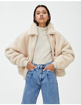 Classic Faux Shearling Jacket by Pull & Bear