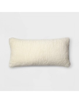 Faux Sheepskin Oversize Lumbar Throw Pillow Cream   Threshold™ by Threshold