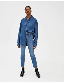 Blue Regular Comfort Fit Jeans by Pull & Bear