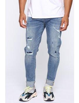 Jagger Slim Taper Jean   Vintage Blue Wash by Fashion Nova