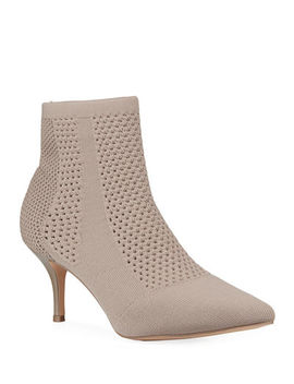 Charles By Charles David Alter Stretch Knit Perforated Ankle Booties by Charles By Charles David