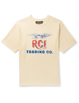 Logo Print Cotton Jersey T Shirt by Reese Cooper®