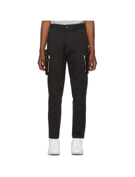 Black Cargo Trousers by Stone Island Shadow Project