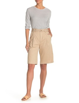 Belted Twill Bermuda Shorts by Vince