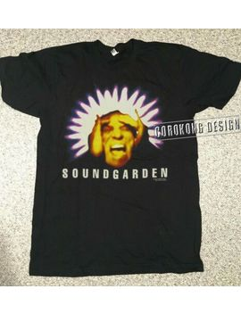 Vintage 90's Soundgarden T Shirt 1994 Concert Tour Black Hole Sun Grunge Reprint by Gildan