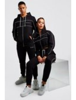 Hers Funnel Zip & Jogger Tracksuit Set by Boohoo Man