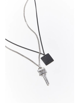 Men Key Pendant Necklace Set by Forever 21