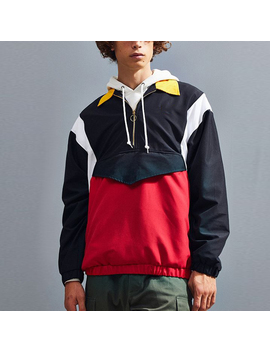 New Fashion Custom Men's Pullover Jackets Wholesale Windbreakers by Custom Brand
