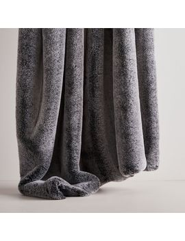 Faux Fur Chinchilla Throw by West Elm