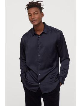 Satijnen Overhemd Regular Fit by H&M