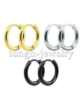 Men Women Stainless Steel Small Hoop Earrings Cartilage Lip Piercing Nose Hoop by Ebay Seller