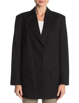 Wool Blend Front Button Blazer by A.L.C.