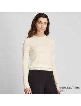 Women Extra Fine Merino Wool Crew Neck Jumper  (290) by Uniqlo