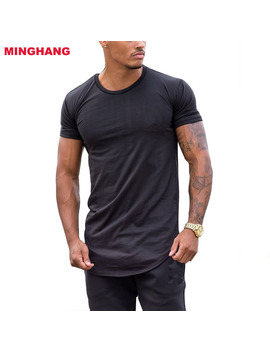 Wholesale Fitness Mens Top/Scoop Neckline Blank Muscle T Shirt/Round Hem Mens Plain Slim Fit T Shirt by Oem