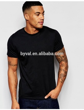 Customize Screen Print Tshirt 100% Cotton Custom Wholesale Mens Plain Black T Shirt by Byval