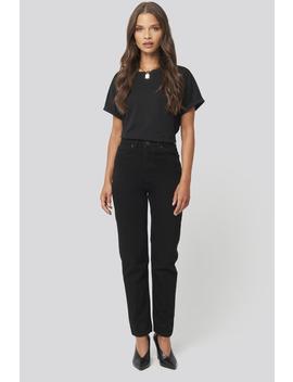 Basic High Waist Mom Jeans Svart by Trendyol