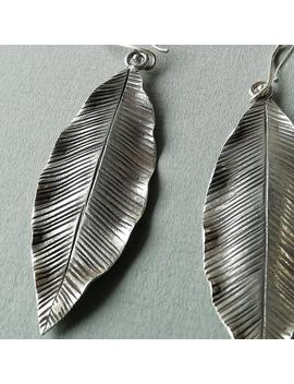 1 Pair Sterling Silver Leaf Earrings | 1 Pair Flower Leaf Charms | Boho Leaf Earrings | Jc21 by Etsy