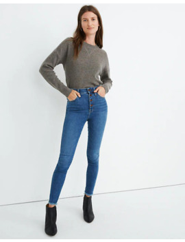 "Petite 10"" High Rise Skinny Jeans In Mackey Wash: Button Front Edition by Madewell"