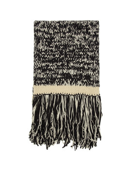 Black & Off White Knit Scarf by Joseph
