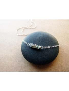 Labradorite Necklace, Layering Necklace, Gemstone Bar Necklace, Minimalist, Delicate Necklace, Sterling Silver, Dainty Necklace, Everyday by Etsy
