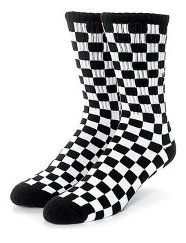 Vans Black &Amp; White Checker Crew Socks by Vans