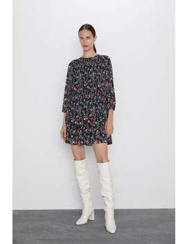 Vestito Stampato Plissettato by Zara
