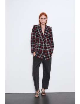 Double Breasted Check Blazer by Zara