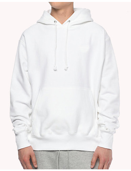 High Quality Reverse Weave White Hoodie Custom Cotton Mens Hoodies by Customizable (Oem)