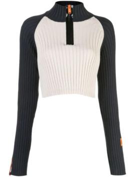 укороченный свитер с воротником на молнии by Heron Preston