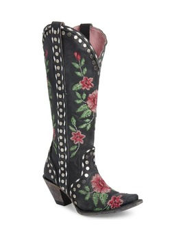X Junk Gypsy Wild Stitch Embroidered Boot by Lane Boots