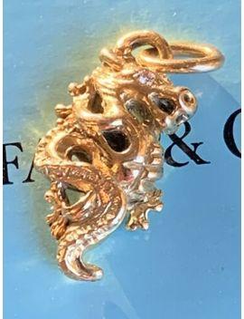 Tiffany & Co 18 K Gold Paloma Picasso Zodiac Diamond Dragon Charm Pendant Rare by Tiffany & Co.