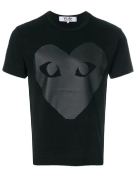 Graphic Print T Shirt by Comme Des Garçons Play