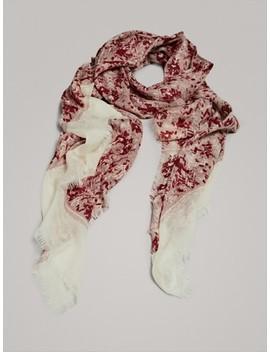 Herringbone Print 100% Wool Scarf by Massimo Dutti