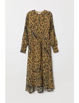 Рокля от коприна с принт by H&M