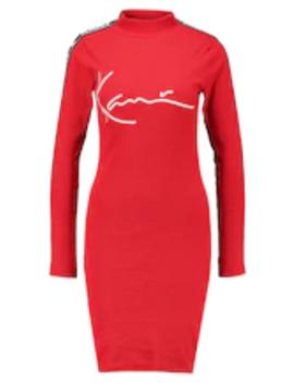 Signature Tape Dress   Etuikleid by Karl Kani