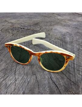 1950s Wood Grain Cat Eye Glasses • Vintage Mid Century Sunglasses by Etsy