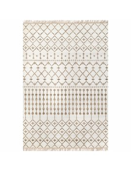 Calin Brown/White Indoor/Outdoor Area Rug by Union Rustic