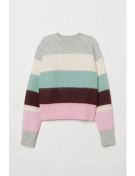 Плетен пуловер от вълнена смес by H&M