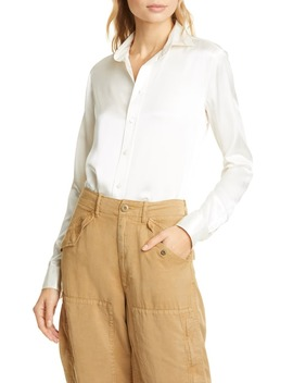 Silk Charmeuse Blouse by Polo Ralph Lauren