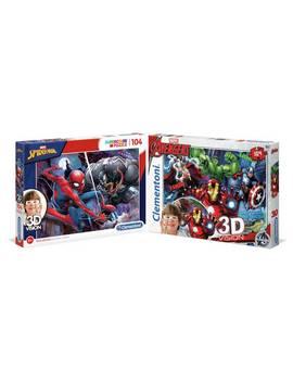 Marvel Avengers 3 D Effect 2 X 104 Piece Jigsaw Puzzle130/9951 by Argos