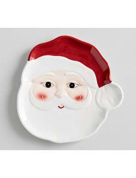 Santa Plate by Pottery Barn