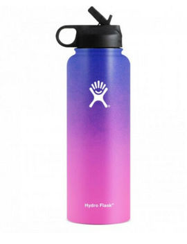 Hydro Flask Water Bottle Stainless Steel Insulated Wide Mouth Lid Straw Drink by Ebay Seller