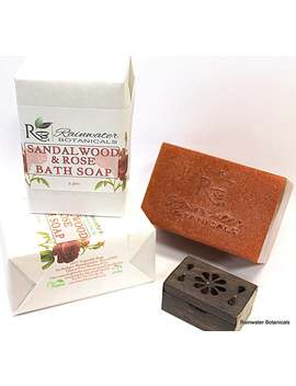Sandalwood & Rose Palm Free Vegan Soap by Etsy
