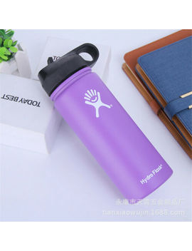 Hydro Flask Water Bottle Stainless Steel Insulated Portable Straw Wide Mouth Cup by Ebay Seller