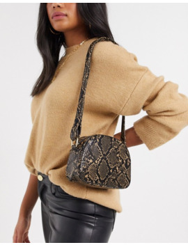 French Connection Snake Print Cross Body Bag by French Connection