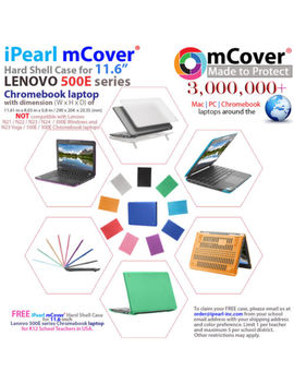 "New M Cover® Hard Shell Case For 2018 11.6"" Lenovo 500 E 2 In 1 Chromebook by M Cover®"
