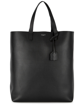 Black Grained Leather Tote by Saint Laurent
